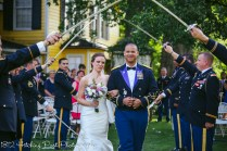 Bride gets wacked by sword